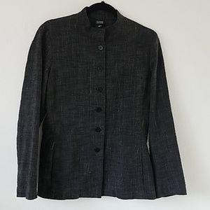 Eileen Fisher   Small Linen Blend Gray Jacket